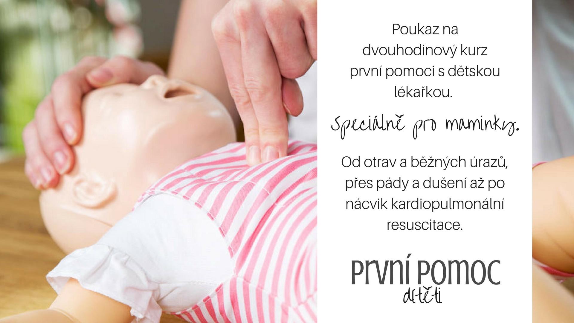 Darujte poukaz na kurz první pomoci pro maminky