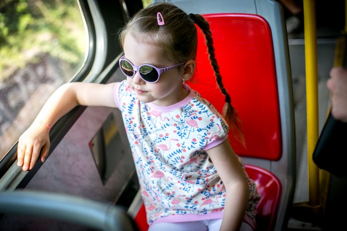 Děti a sluneční brýle