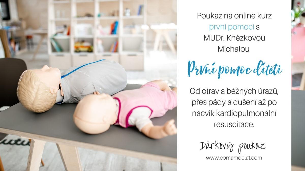 Darujte poukaz na kurz dětské první pomoci